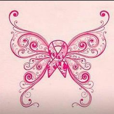butterfly breast cancer ribbon tattoo - Google Search