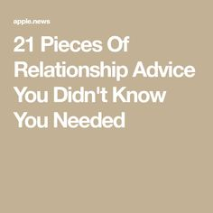 Buzzfeed 21 relationship advice