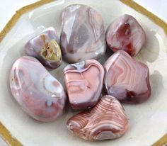 "Botswana agate is sometimes called the ""change stone"" because of its mystical…"