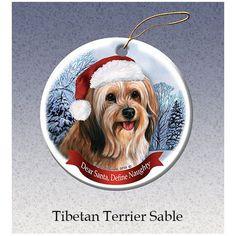Tibetan Terrier Howliday Dog Christmas Ornament