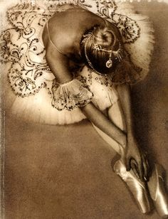dancer, ballet, vintage, tutu, photography, sepia tone
