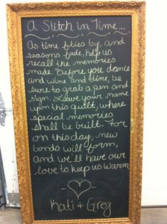 I really like the saying on this for my guest book!