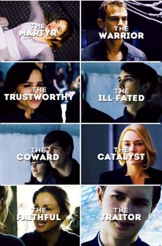 Beatrice/Tris Prior->Four/Tobias Eaton Christina->Will Albert/Al->Jeanine Natalie Prior->Caleb Prior isn't a traitor if you read allegiant. Divergent Characters, Divergent Fan Art, Divergent Memes, Divergent Hunger Games, Divergent Fandom, Divergent Trilogy, Divergent Insurgent Allegiant, Insurgent Quotes, Divergent Fanfiction