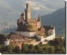 Marksburg Castle, near Koblenz, Germany