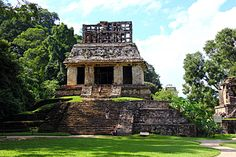 The Maya civilization site of Palenque lies in the foothills of the Chiapas mountains of southern Mexico