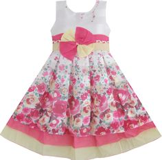 Click to view larger image  Have one to sell? Sell it yourself  Girls Dress Pretty Pink Floral Dress Children Clothing