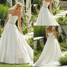 New Wedding Dresses A-line Strapless Bridal Gown Stock Size 6 8 10 12 14 16