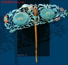chinese ancient jewlery Ancient Jewelry, Antique Jewelry, Vintage Jewelry, Asian Hair Pin, Chinoiserie, Pelo Vintage, Vintage Hair Combs, Hair Ornaments, Hair Jewelry