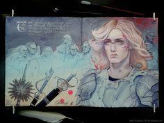 Finrod by Watch Report Fan Art / Traditional Art / Paintings / Books & History Of Middle Earth, Lotr Elves, Elf Art, Elvish, Jrr Tolkien, The Hobbit, Traditional Art, Illustrators, Fantasy Art