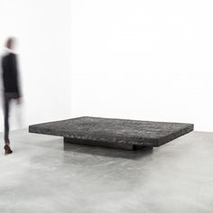 VINCENT DUBOURG  GAIA IMPRINT LOW TABLE BLACK GM | 2016