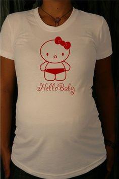 Maternity Tshirt (Hello Baby Girl) LARGE