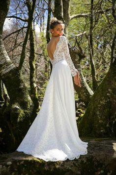 Sexy Backless Long Wedding Dresses 2017 With Long Lace Sleeves A-line Beach Wedding Gowns Informal Reception Bridal Gowns Cheap Country Wedding Dresses, Long Wedding Dresses, Princess Wedding Dresses, Boho Wedding Dress, Boho Dress, Bridal Dresses, Wedding Gowns, Wedding Beach, Backless Wedding