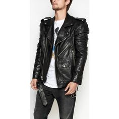BLK DNM Black Motorcycle Jacket