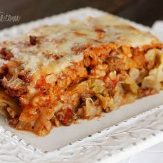 Stuffed Cabbage Casserole- I'm always looking for recipes with cabbage