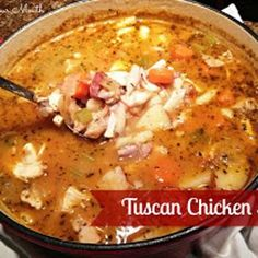 Tuscan Chicken Stew Recipe - South Your Mouth & ZipList - Super flavorful and yummy!  We love it! - akd