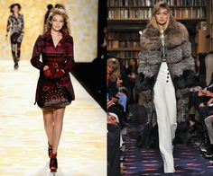 At the Desigual Fall/Winter 2014 fashion show, and walking Sonia Rykiel Fall/Winter 2015 earlier this year. In just a little more than a year, Hadid has skyrocketed from reality TV teen to model of the moment.   - HarpersBAZAAR.com