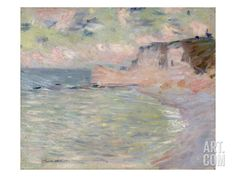 Cliffs and the Porte D'Amont, Morning Effect, 1885 Giclee Print by Claude Monet at Art.com