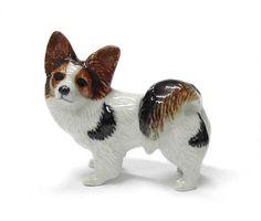 PAPILLON Dog Brn/Blk MINIATURE Northern Rose Porcelain R339  $9.99