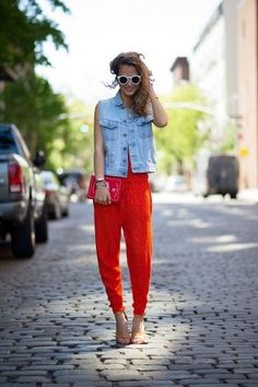 Idea for my red skirt - team it with denim/chambray!