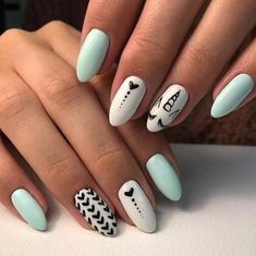 summer nails nail Best Summer Nail Designs - 35 Colorful Nail Ideas You Can Do It Yourself At Home New 2019 - Page 5 of 35 - clear crochet Spring Nail Colors, Spring Nails, Winter Nails, Nail Summer, Cute Summer Nails, Cute Nails, Pretty Nails, My Nails, Winter Nail Designs