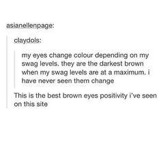 FINALLY BROWN EYES HAVE SOMETHING