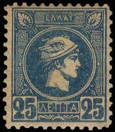 Auction House specialized in stamps, coins, banknotes, rare maps and books of Greece and many other foreign countries. Going Postal, Athens, Greece, Vintage World Maps, Auction, Stamps, Blue, Greece Country, Seals
