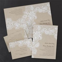 55 best wedding invitations with lace designs images on pinterest