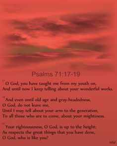Psalms 71:17-19