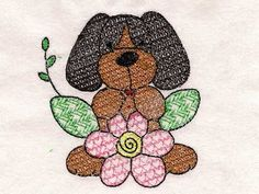 Beagles and Flowers Machine Embroidery Designs  http://www.designsbysick.com/details/beaglesflowers