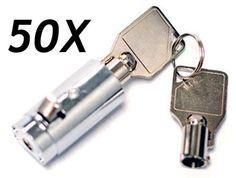 50 Universal Tubular Soda Snack Vending Machine Cylinder Plug Lock-FREE SHIPPING