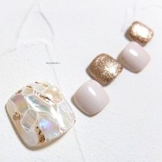 ネイル ネイル in 2019 Luv Nails, Cute Toe Nails, Toe Nail Art, Gel Pedicure, Pedicure Designs, Gel Nail Designs, Glitter Gel Nails, Bling Nails, Feet Nail Design