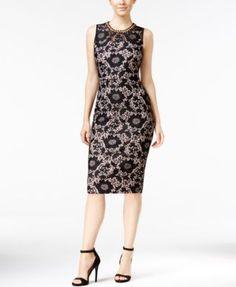 Jessica Simpson Lace Necklace Sheath Dress | macys.com