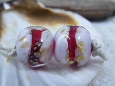 Handmade Lampwork Beads Organic Round NuggetsLIMITED