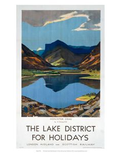 This The Lake district for Holidays - Honister Crag Art Print Art Print is created using state of the art, industry leading Digital printers. The result - a stunning reproduction at an affordable price. The Lake district for Holidays - Honister Crag Posters Uk, Train Posters, Railway Posters, Poster Prints, Art Prints, Lake District Holidays, Countryside Landscape, National Railway Museum, Tourism Poster