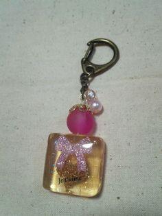 Like perfume bottle key chain