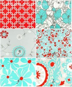 teal and red kitchen ideas - Google Search                                                                                                                                                     More