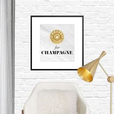Press for Champagne Free Printable