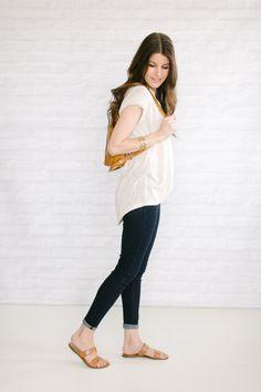 skinny jeans   flowy top