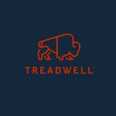 Treadwell designed by Perky Bros, USA. #branding #logo