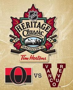 The proposition of the ad is to buy tickets or watch the NHL Heritage Classic. The target market is to hockey fans of all ages. The primary design techniques of the advertisement include logo, copy, and unity. Hockey Logos, Nhl Logos, Sports Logos, Vancouver Canucks, Ottawa, Tim Hortons, Hockey Games, Best Games, Place