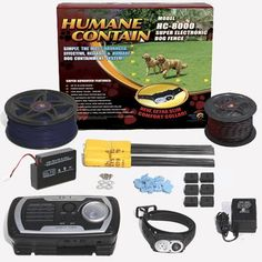 Humane Contain HC-8001 Humane Contain Electronic Fence Ultra Value Kit