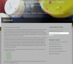 Example of an Art blog used for elementary art classes.  Teacher has set up blog so posts for the different grades go to different pages on the blog.