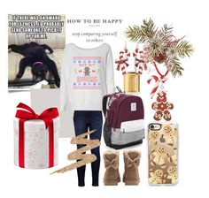 """""""Chistmas is 3 days away?!?!?"""" by iz-so-kray-kray ❤ liked on Polyvore featuring Levi's, Urban Decay, UGG, Victoria's Secret, Casetify, Essie and Dolci Gioie"""