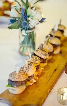 Cute little wedding burgers.