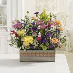Order Wildflower Garden flower arrangement from Nelsons Flower Shop, your local Grove City PA florist. Send Wildflower Garden floral arrangement throughout Grove City PA and surrounding areas. Faux Flowers, Yellow Flowers, Wild Flowers, Summer Flowers, Large Flower Arrangements, Same Day Flower Delivery, Blooming Plants, Pink Orchids, Flower Pots