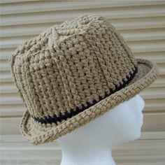 crochet fedora hat pattern free | CrochetDad Ramblings: Cotton Unisex Fedora