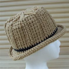 crochet fedora hat pattern free | CrochetDad Ramblings: Cotton Unisex Fedora