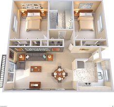apartment floor plans between oakville and germantown 2 Bedroom House Plans, Sims House Plans, House Layout Plans, Modern House Plans, House Layouts, House Rooms, Loft House, Sims 4 Houses Layout, Tiny Home Floor Plans
