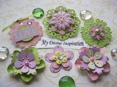 Sweet Girl Paper Embellishments by mydivineinspiration on Etsy.