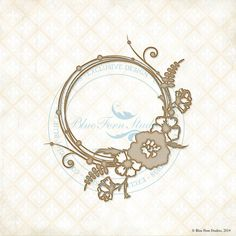 Reneabouquets New Item Listing~ Blue Fern Studios Laser Cut Chipboard Circle Flourish